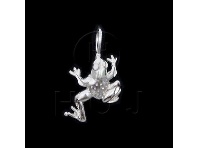 Sterling Silver DiamondCut Animal Charm Frog