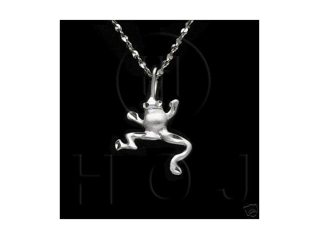 Sterling Silver DiamondCut Animal Charm Frog