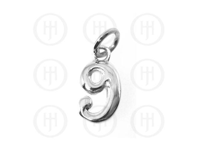 Sterling Silver Alphabet-Number 9 Charm