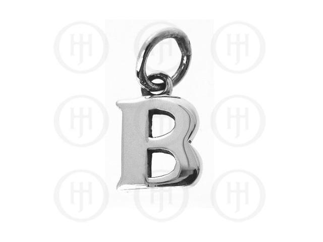 Sterling Silver Letter B Alphabet-Number Charm