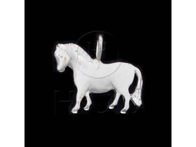Sterling Silver DiamondCut Animal Charm Horse