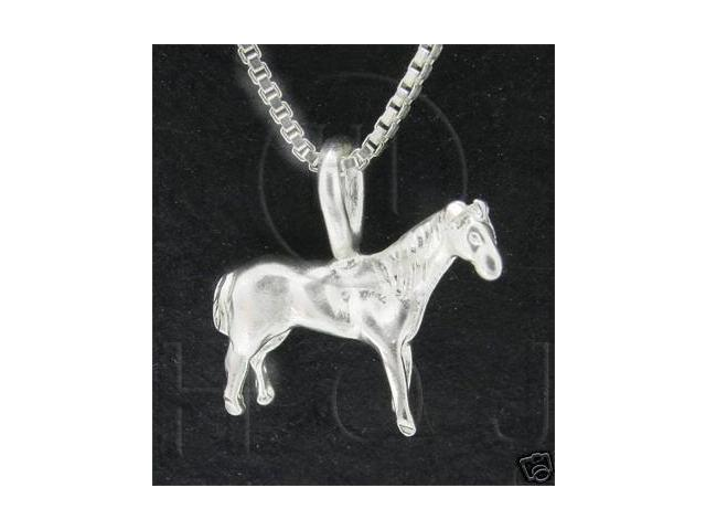 Sterling Silver DiamondCut Animal Charm Horse