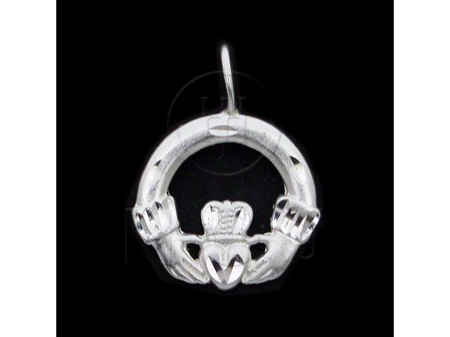 Sterling Silver DiamondCut Assorted Charm Claddaugh