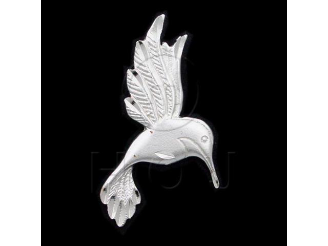 Sterling Silver DiamondCut Animal Charm Hummingbird