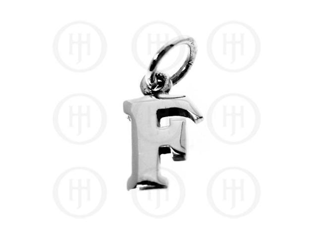 Sterling Silver Letter F Alphabet-Number Charm