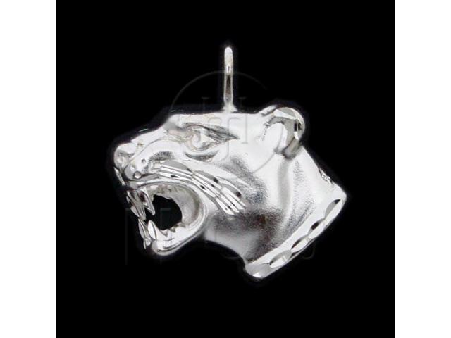 Sterling Silver DiamondCut Animal Charm Jaguar