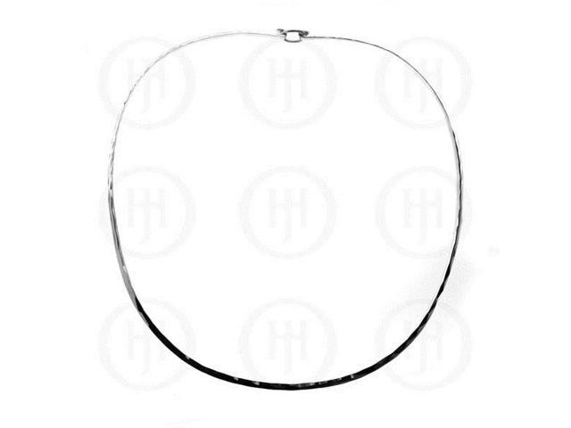 Sterling Silver Fancy Chain Hammered Choker 2.5mm  18 inches