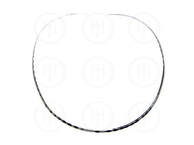Sterling Silver Fancy Chain Hammered Choker 3.5mm  18 inches