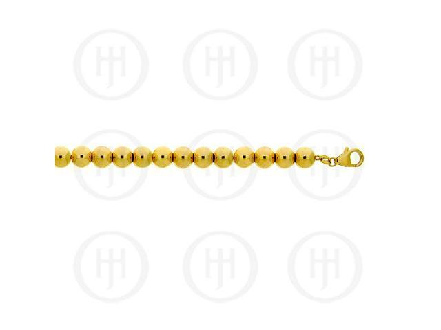 Sterling Silver Fancy Assorted Ball Chain Yellow Colour  6mm 18 inches
