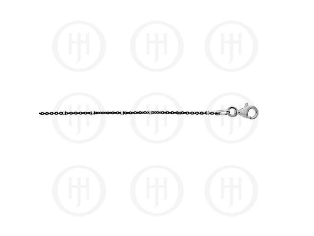 Sterling Silver Fancy Chain Assorted Black Colour Ball and Bar Chain  1.3mm 16 inches