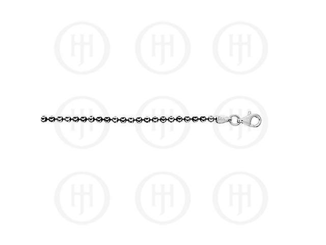 Sterling Silver Fancy Chain Assorted Black Colour Chain  2.25mm 16 inches