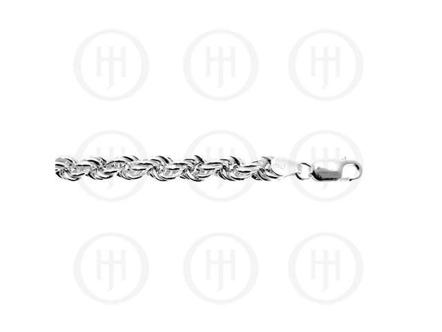 Sterling Silver Chain Hollow Rope 6mm  18 inches