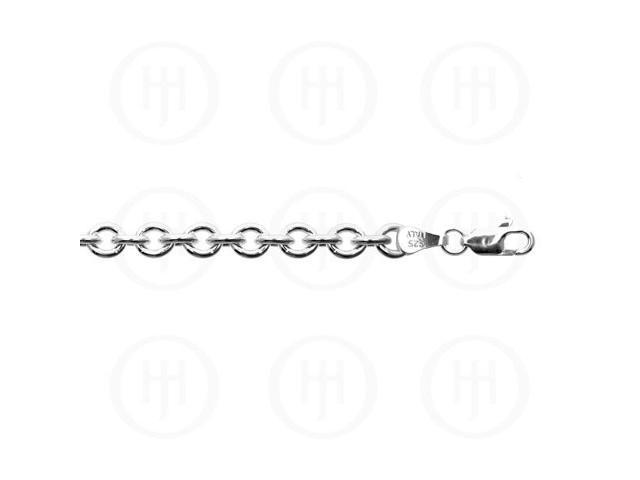Sterling Silver Chain Rolo 06  6.0mm 24 inches