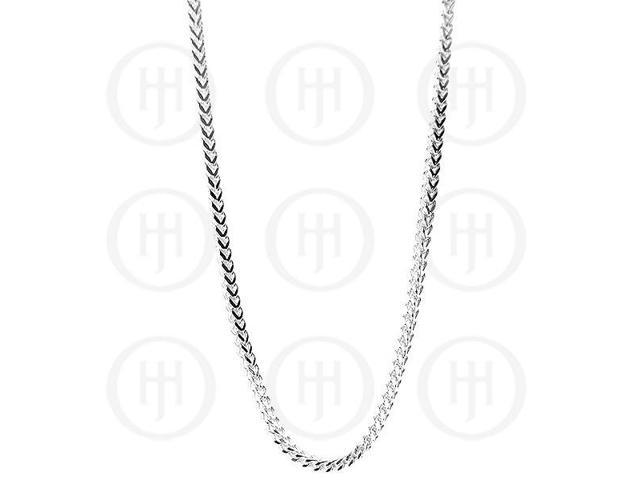 Sterling Silver Chain Necklace Franco 80 18 inches