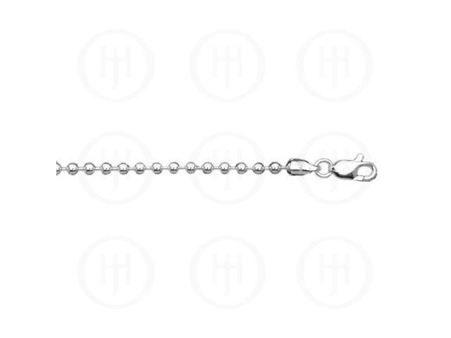 Sterling Silver Chain Ball 04  3.0mm 18 inches