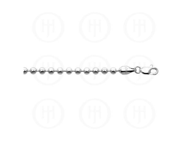 Sterling Silver Chain Ball 05  4.0mm 7 inches