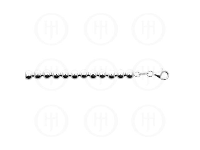 Sterling Silver Chain Ball 06  5.0mm 8 inches