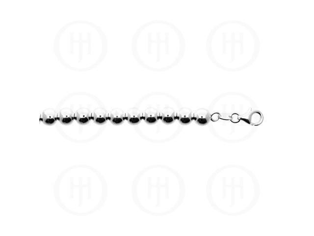 Sterling Silver Chain Ball 09  8.0mm 7 inches