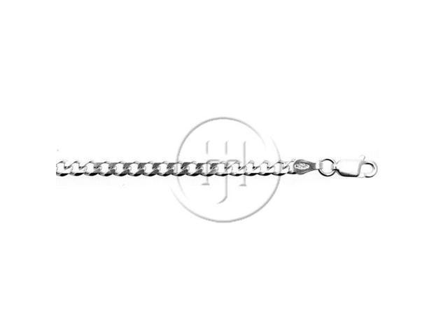 Sterling Silver Chain Curb 06  3.8mm 8 inches