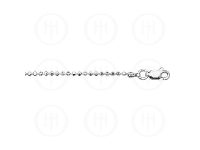 Sterling Silver Chain Ball DiamondCut 03  2.0mm 18 inches