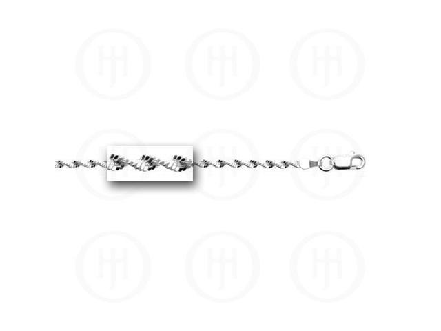 Sterling Silver Fancy Chain TwistedMagic 2.5mm  8 inches