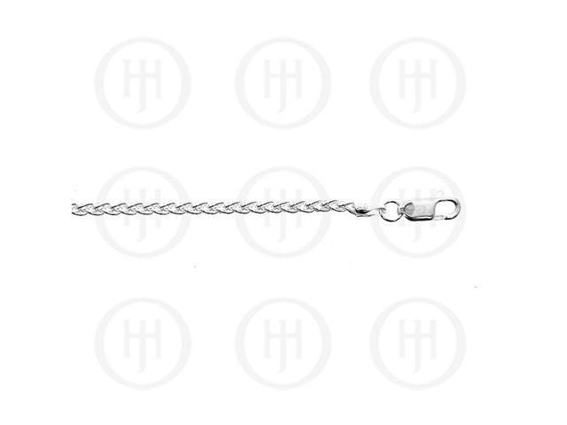 Sterling Silver Chain Wheat 03  2mm 24 inches