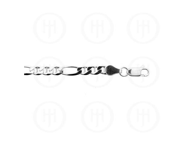 Sterling Silver Chain FigaroGucchi 01  4.2mm 18 inches