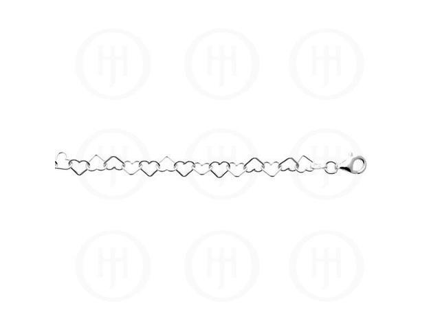 Sterling Silver Assorted Fancy Chain Heartlink 3.0mm  10 inches