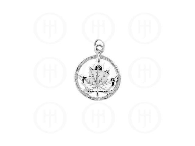 Sterling Silver Pendant Canadian Maple Leaf