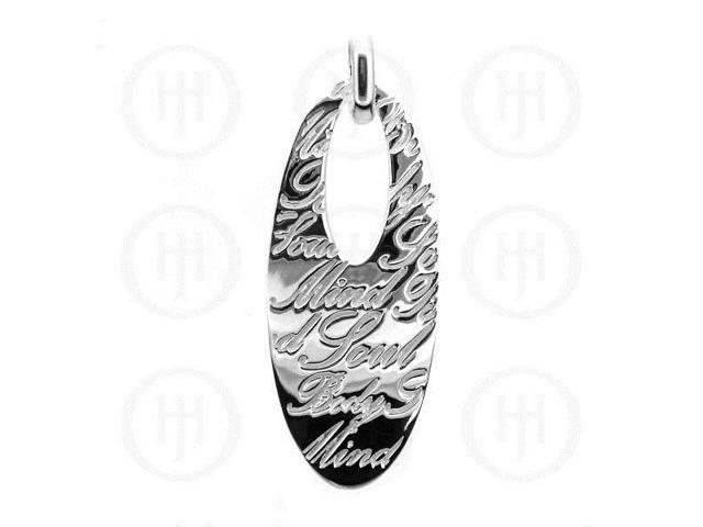 Sterling Silver Tiffany Inspired Body - Mind Soul Inspirational Pendant