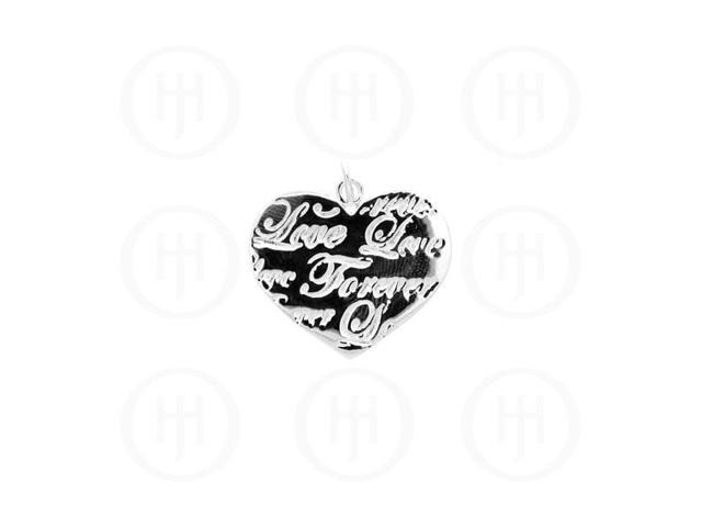 Sterling Silver Tiffany Inspired Inspirational Pendant Love Forever