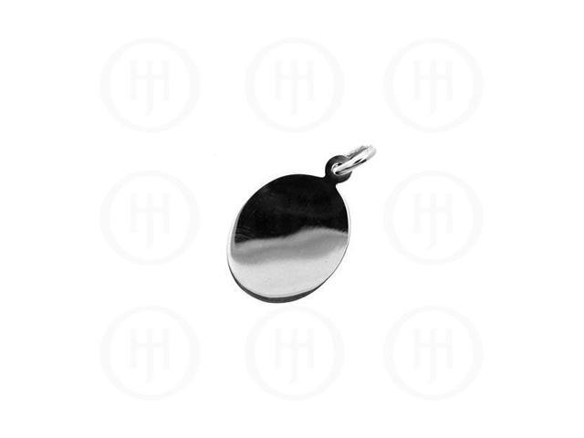 Sterling Silver Pendant Oval Dog-Tag