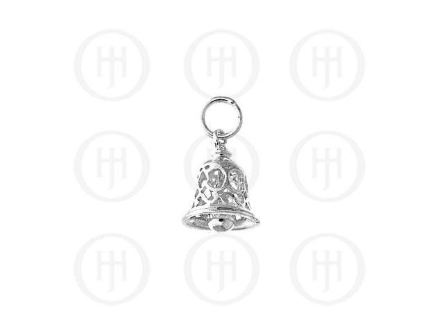 Sterling Silver Handcarved Mini Bell Pendant