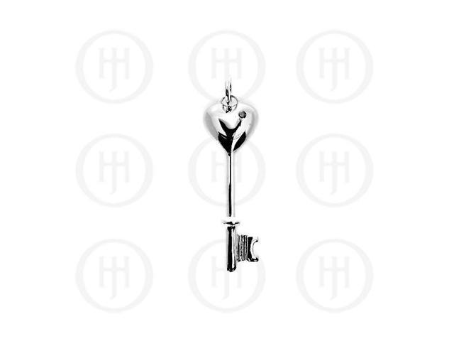 Sterling Silver Pendant Tiffany Inspired Key