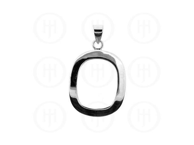 Sterling Silver Rectangular Pendant