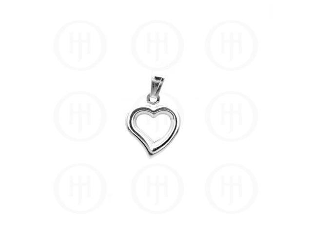 Sterling Silver Hanging Heart Pendant