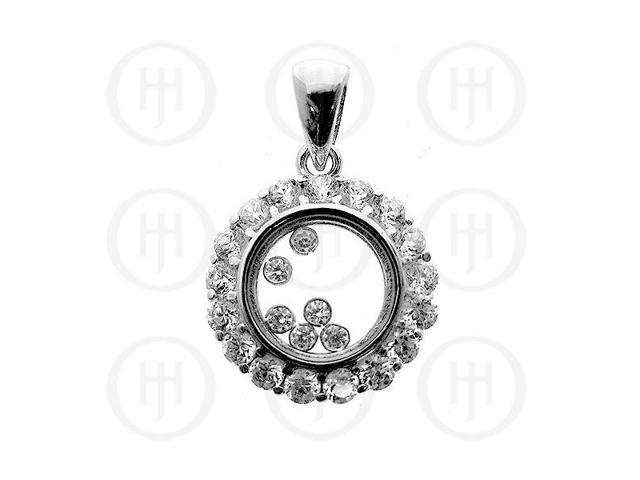 Sterling Silver CZ Assorted Pendant