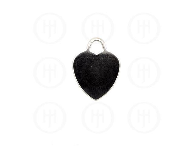 Sterling Silver Heart Dog-Tag Pendant