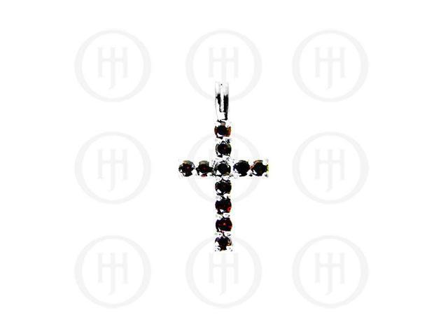 Sterling Silver Cubic Zirconia Religious Cross Pendant CR-1019-G
