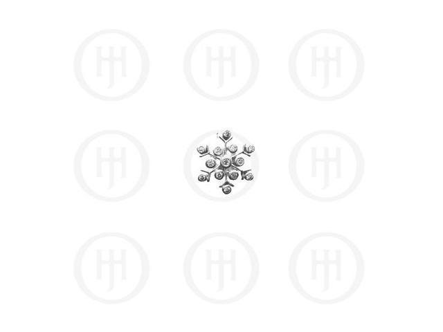 Sterling Silver CZ Assorted Snowflake Pendant