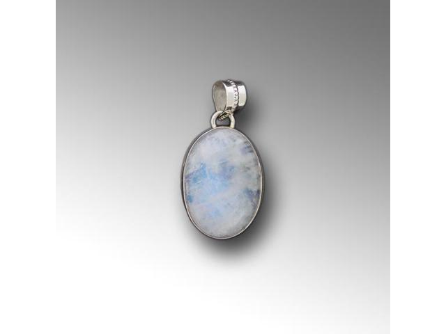 Sterling Silver Pendant Moon Stone