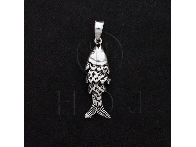 Sterling Silver Movable Pendant Fish