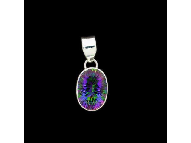 Sterling Silver Pendant Mystic Topaz Stone