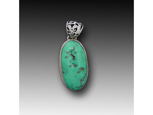 Sterling Silver Pendant Turquoise Stone