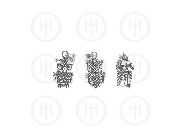 Sterling Silver Movable Pendant OWL SMALL