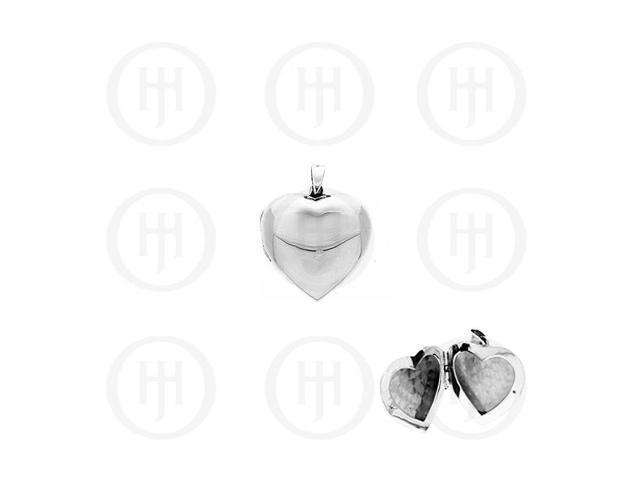 Sterling Silver Heart Locket Pendant 38mm x 38mm