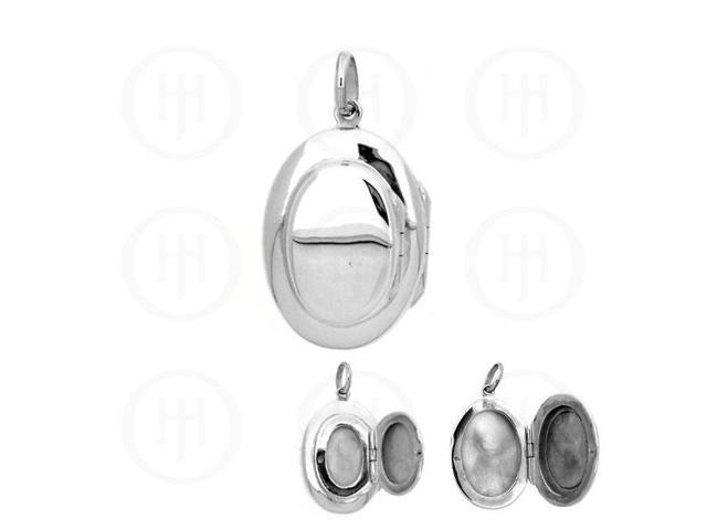 Sterling Silver Double Oval Locket 20.5mm x 33.5mm