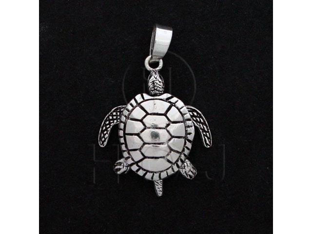 Sterling Silver Movable Pendant Sea Turtle