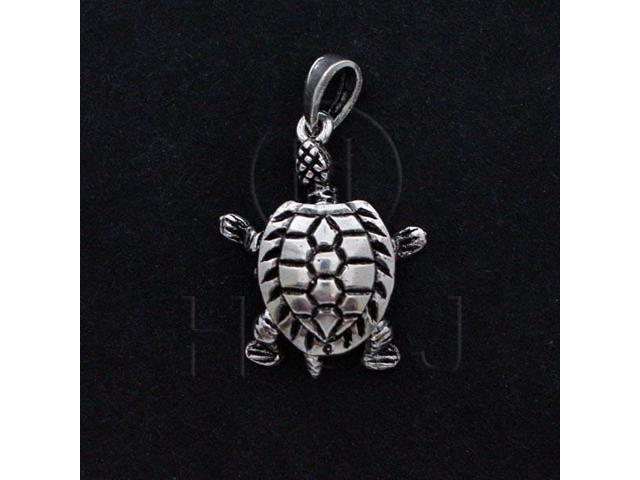 Sterling Silver Movable Pendant Turtle