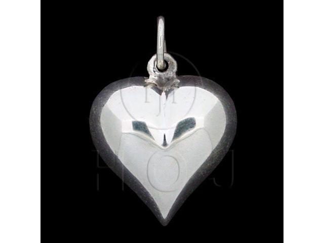 Sterling Silver Puffed Heart Pendant 20mm